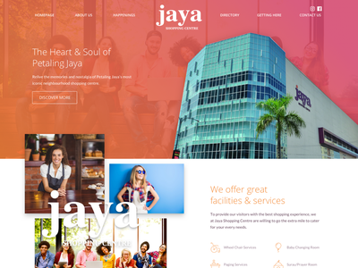Shopping Centre Landing Page gradient landing page design user interface ui
