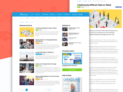 Graduan Articles tags website ui user interface sidebar news articles