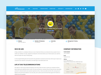 Graduan - Employer Page ui user interface job career employer