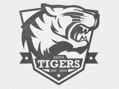 Football Logo rasta tiger logo mark shield crest rockwell