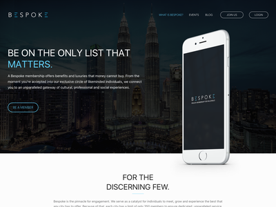 Bespoke Landing Page website landing page user interface