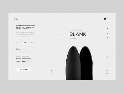 Norcal board shop concept grid landing ux editorial logo ecommerce typography clean ui minimal