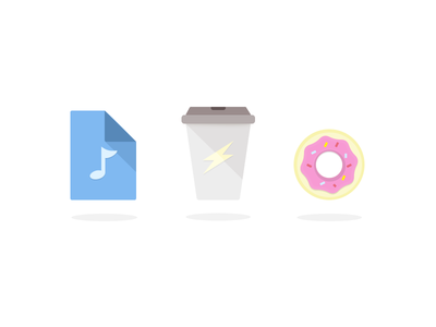 Friday Working day's activity icons - PSD