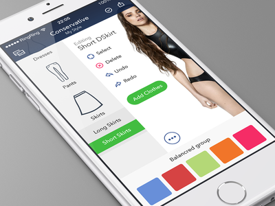 Fashion App - Style Composer Screen