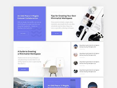 Amory - Grids wordpress ux ui theme slider showcase product modest landing ecommerce design