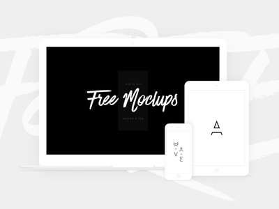 Free White Devices Mockups - Sketch & PSD iphone x laptop minimalistic macbook ipad mockup template white devices psd sketch free