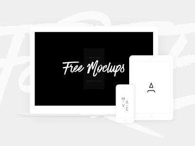 Free White Devices Mockups - Sketch & PSD iphone x laptop minimalistic macbook ipad mockup template white devices psd sketch free