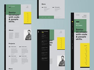 Paul Huisman ● Portfolio ● CV sidebar cv design ux webdesign portfolio website