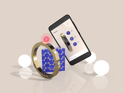 Conni. The Smart Bracelet. internetofthings iot connected smart object jewelry app design smart jewelry wearable tech product design product