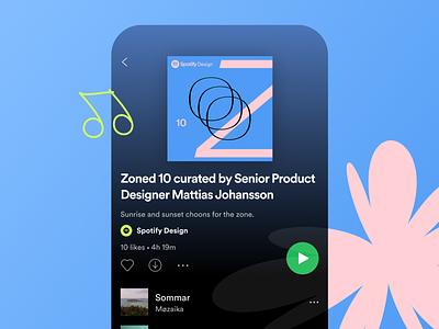 Spotify Design Zoned Playlist ios music minimal flat playlist interface app design app spotify
