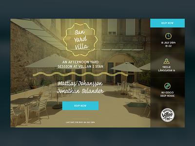 Sunyard Villa Invitation Site