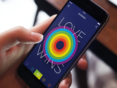 Love Wins america pride graph love app ios