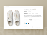 Margiela Product Card shoes store interface margiela fashion app clean minimal e-commerce shop cart product