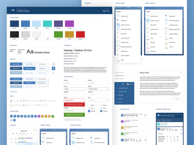 Flight UI Style Guide typography guide style toolkit guidelines palette color web brand ui app flat