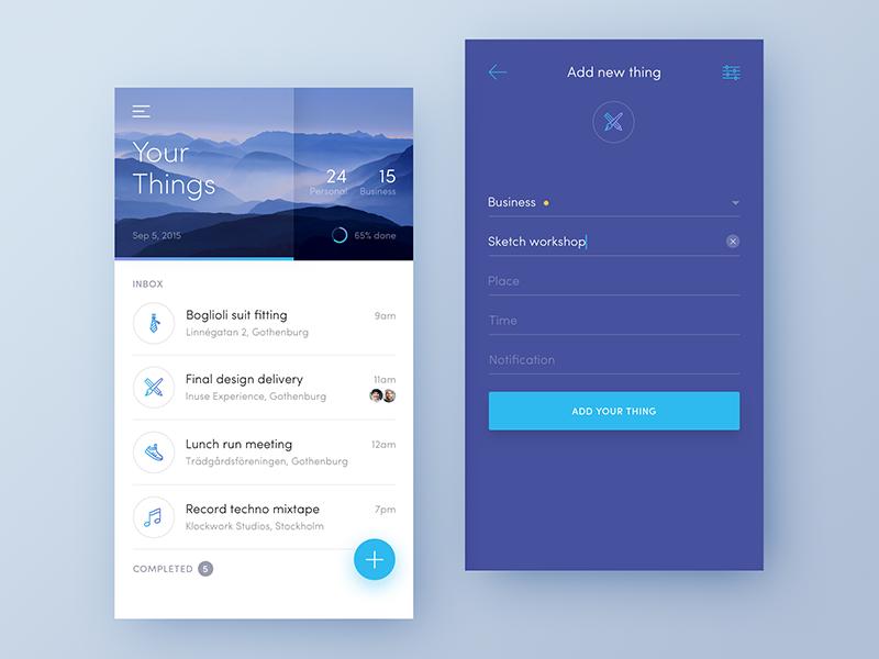 Dreamlist ios todo reminder illustrations icons minimal wunderlist task list material app flat