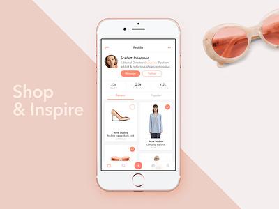 Social Shopping App social ios mobile clean sketch app ux ui fashion profile commerce shopping