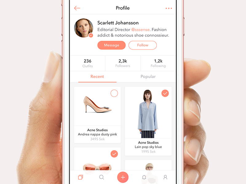 Social Shopping App social ios mobile clean sketch app ux ui fashion profile commerce shopping