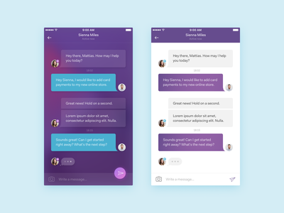 Support Chat user interface sketch ux ui gradient zendesk messenger chat support