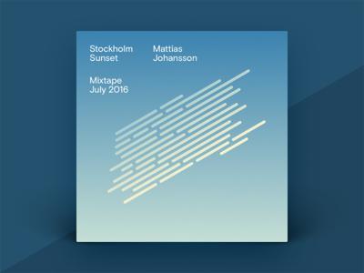 Stockholm Sunset Mixtape house techno electronic waves shape gradient typography cover album mixtape music