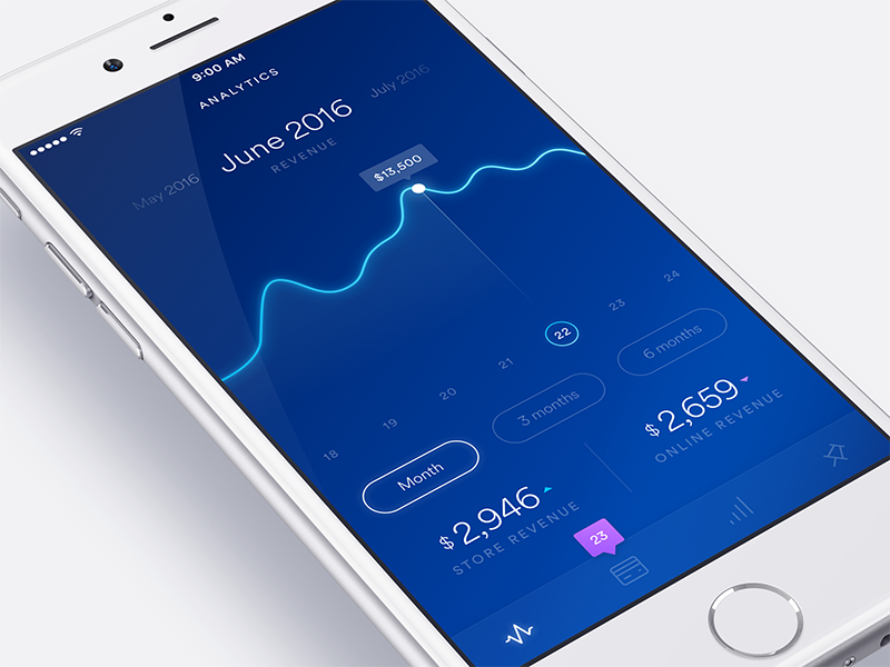 Payment Dashboard money payment blue analytics ux ui graph gradient concept dashboard app