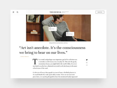 Fashion Journal image typography interface clothes fashion app clean minimal e-commerce article magazine product