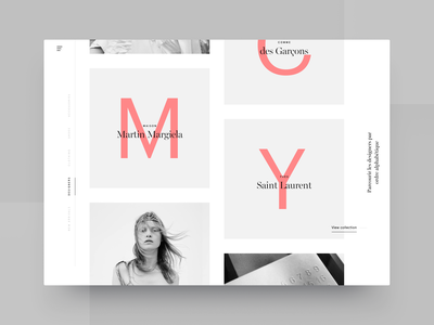 Designer Listing typography catalog cart shop e-commerce minimal clean app fashion interface store image