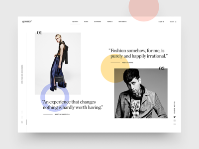 Fashion Quotes image store interface fashion app clean minimal e-commerce shop cart catalog typography