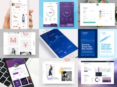 Best 9 2016 best of nine mobile dashboard music running shopping payments ui portfolio app 9 2016