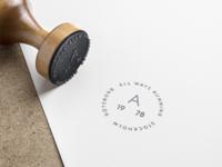 All Ways Running Stamp symbol stamp seal pin minimal mark label icon sport badge running brand