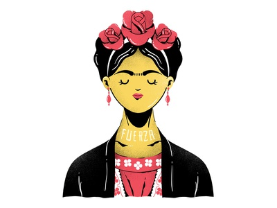 Frida vector fuerza illustration frida