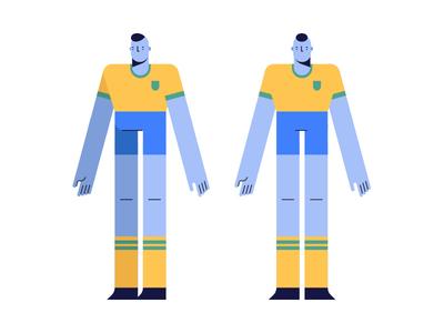 Soccer soccer flat  design character design art design