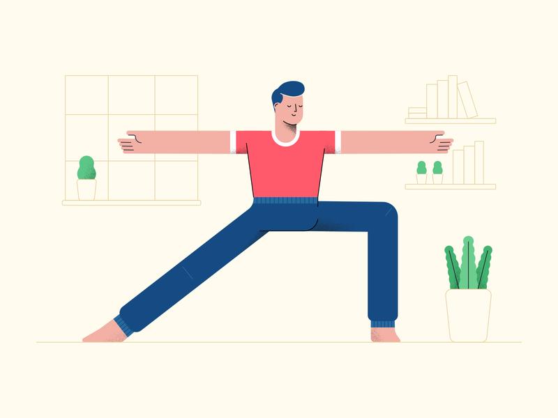 Yoga character flat design illustration vector