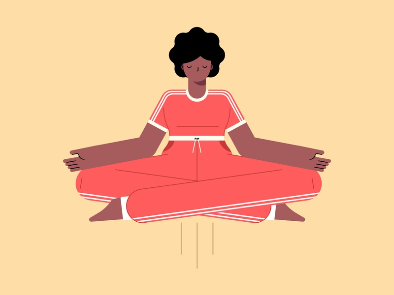 Yoga yoga character design flat vector illustration