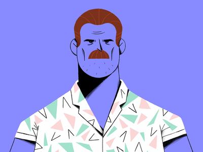 Hopper Stranger Things procreateapp ipadpro sketch illustration