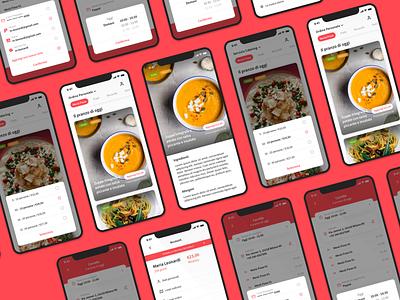 BentoBus - UI System italy red delivery app food app clean design app ux ui