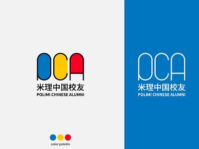 Polimi Chinese Alumni - Branding covid-19 covid19 volunteer university red yellow blue clean brand identity polimi bauhaus branding brand logo design logo