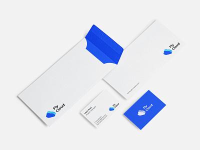 FlyCloud - Branding businesscard stationery logotype cloud clean modern blue logodesign branding brand logo