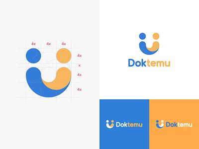 Doktemu - Branding booking appointment doctor medical mascot illustration brand identity logo branding doktemu