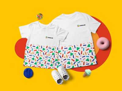 Kiddylab - Branding pattern illustration identity exhibition colorful logo kids children branding