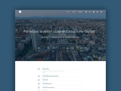 Landing Page - UI landing page design web clean ui