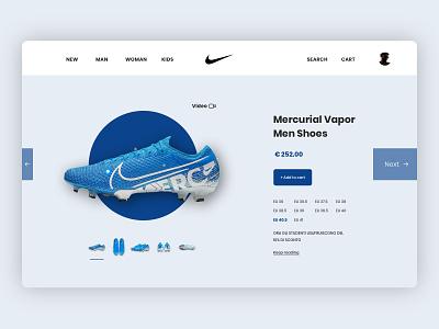 Shopping online - UI concept football blue design webdesign dailyui website clean web ui