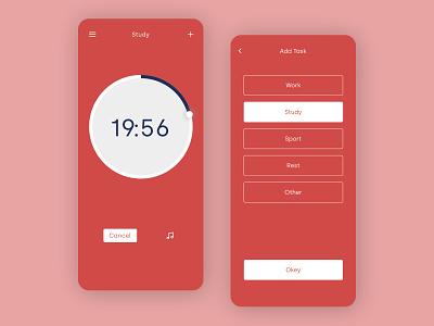 Countdown Timer - UI focus countdown countdown timer timer app timer design dailyui concept app clean ui
