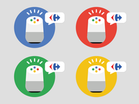Google home sticker set