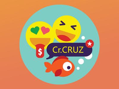 Sticker bubble fish goldfish emoji chat smiley sticker