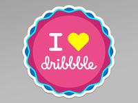 Dribbble sticker