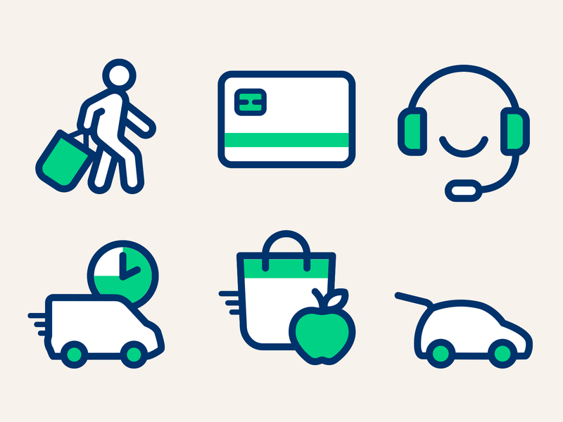 E-commerce icon - Carrefour Design system design system carrefour.fr carrefour icon shop drive delivery customer support card ecommerce