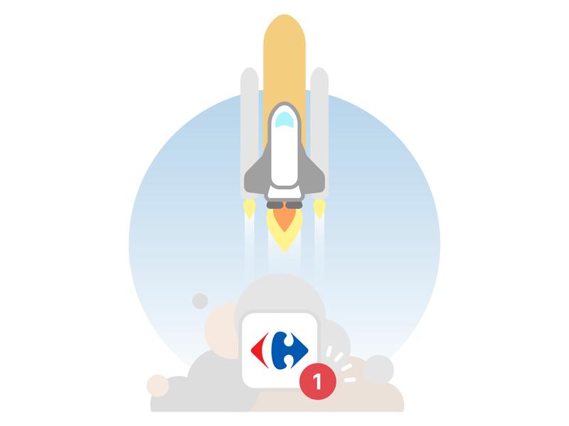 Update update space take off launch rocket nasa spaceship app icon