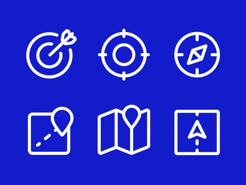 Icon design system roadmap map target icon menu dashboard