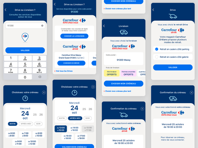 E-commerce screen - Carrefour App drive delivery service carrefour retail slot app ecommerce