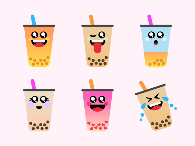 Boba Yeah sticker pack